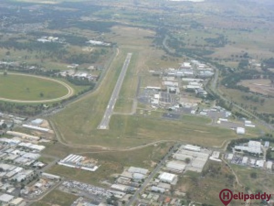 Albury Airport by helicopter