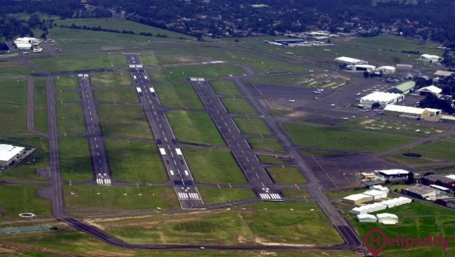 Bankstown Airport by helicopter