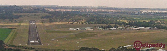 Camden Airport by helicopter