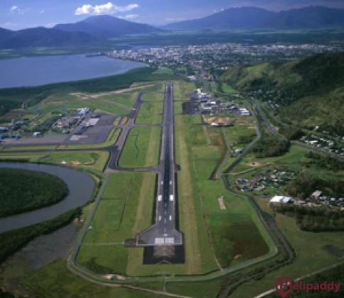 Cairns Airport by helicopter