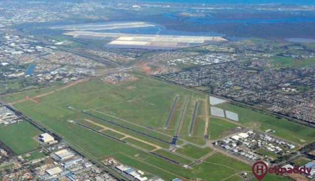 Adelaide Airport by helicopter