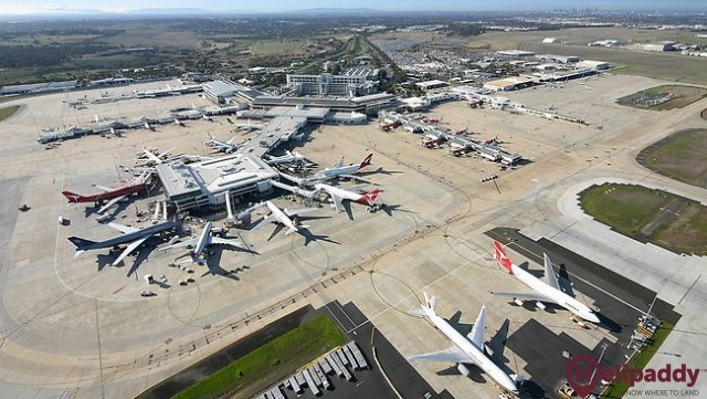 Melbourne Airport by helicopter