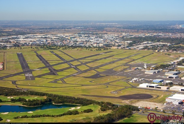 Moorabbin Airport by helicopter