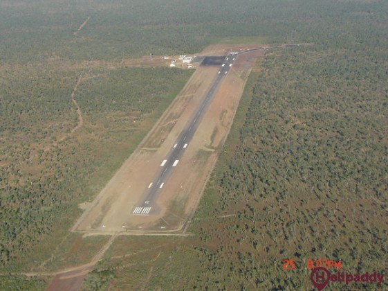 Truscott-Mungalalu Airport by helicopter