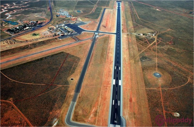 Port Hedland International Airport by helicopter