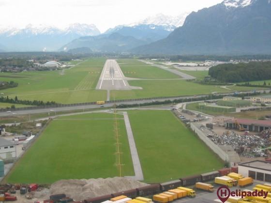 Salzburger Flughafen GmbH by helicopter