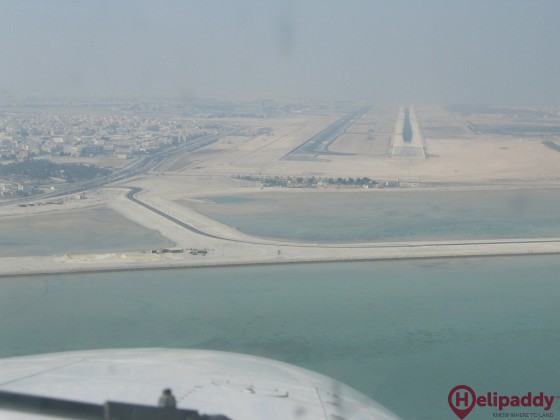 Bahrain International Airport by helicopter