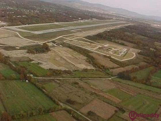 Tuzla International Airport by helicopter
