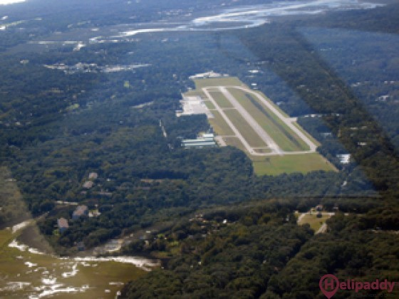 Hilton Head Airport by helicopter