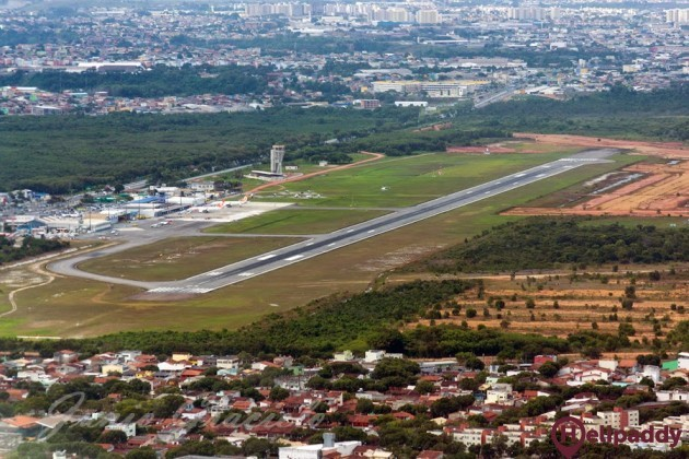 Eurico de Aguiar Salles Airport by helicopter