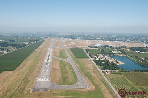 Abbotsford International Airport by helicopter