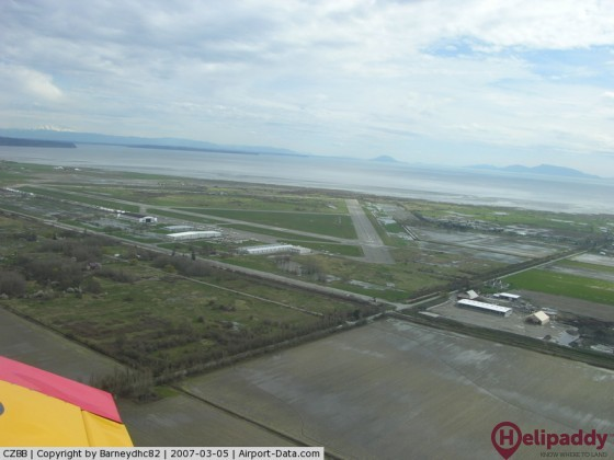 Boundary Bay Airport by helicopter