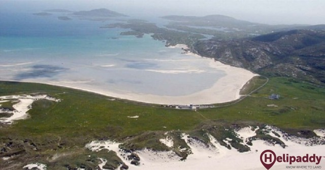 Barra by helicopter