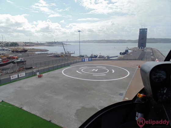 Lisbon Heliport - João Maria Bravo by helicopter