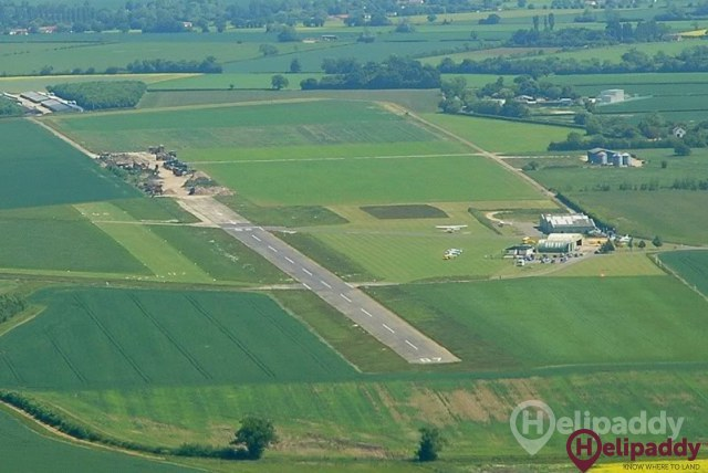 Old Buckenham Airfield by helicopter