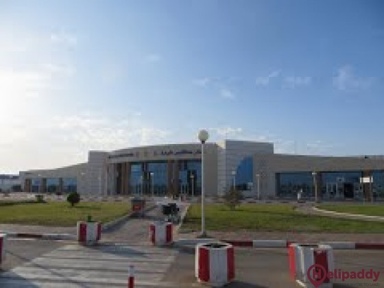 Sfax-Thyna International Airport by helicopter