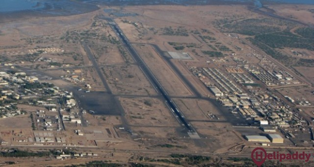 Hassan Airport by helicopter
