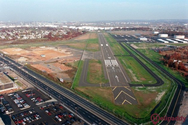 Linden Airport by helicopter