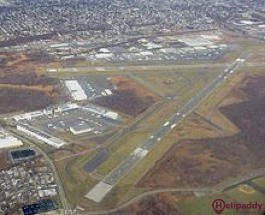 Teterboro Airport by helicopter
