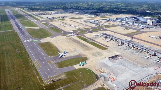 Gatwick Airport by helicopter