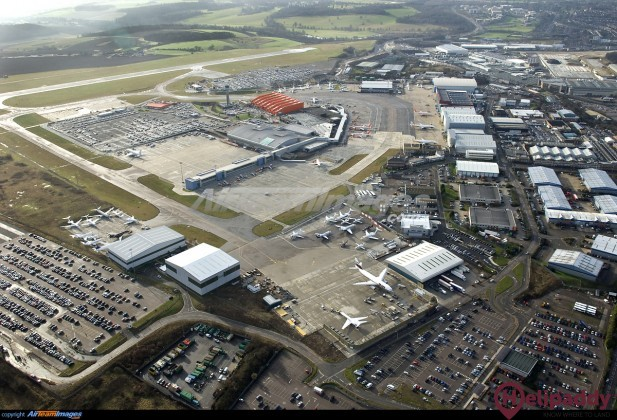 London Luton Airport by helicopter