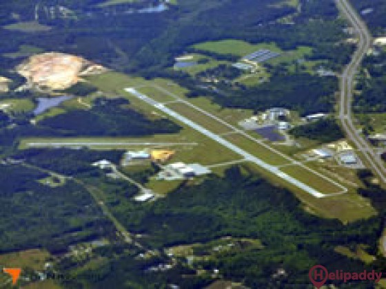 South Alabama Regional Airport by helicopter