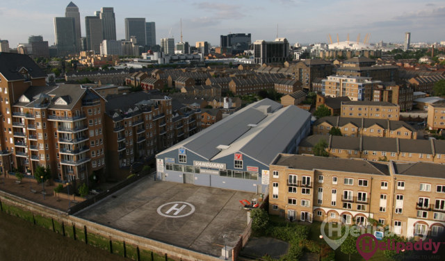 Falcon London Heliport by helicopter