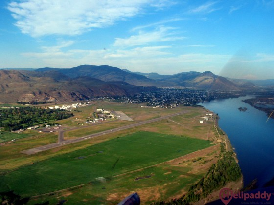 Kamloops Airport by helicopter