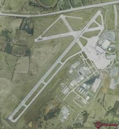 Blue Grass Airport by helicopter