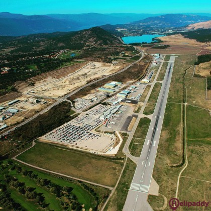 Kelowna International Airport by helicopter