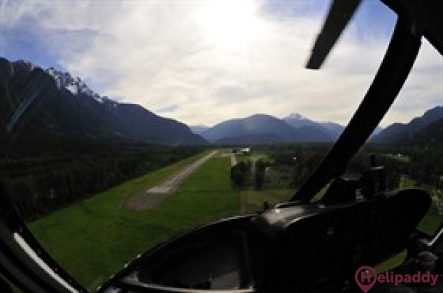 Pemberton Regional Airport by helicopter