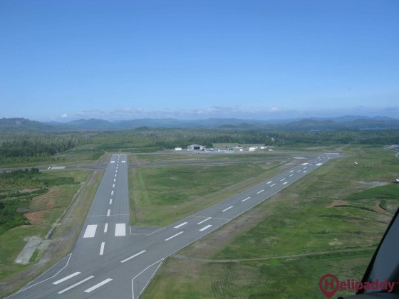 Port Hardy Airport by helicopter