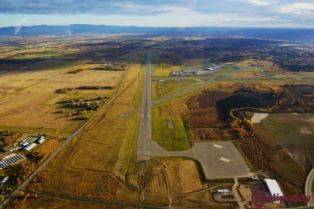 Prince George International Airport by helicopter