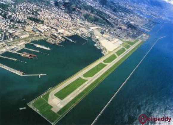 Genoa Airport by helicopter