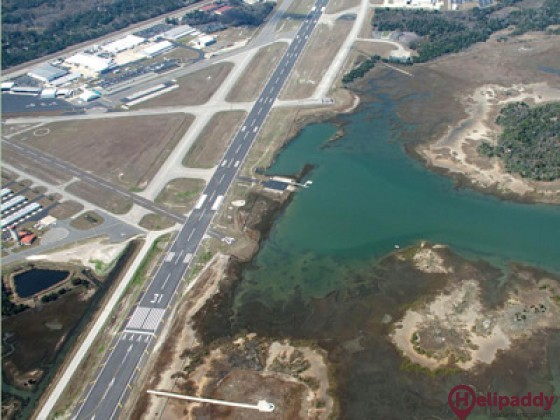 St. Augustine Airport by helicopter