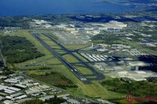 Daytona Beach International Airport by helicopter