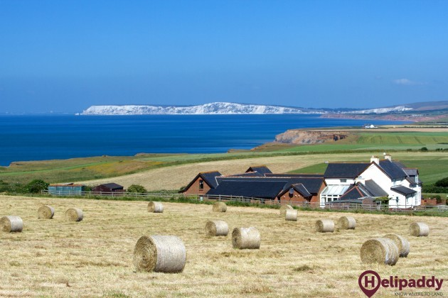 Chale Bay Farm by helicopter