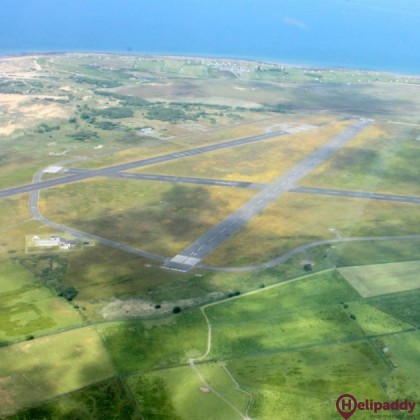 Llanbedr Airfield by helicopter