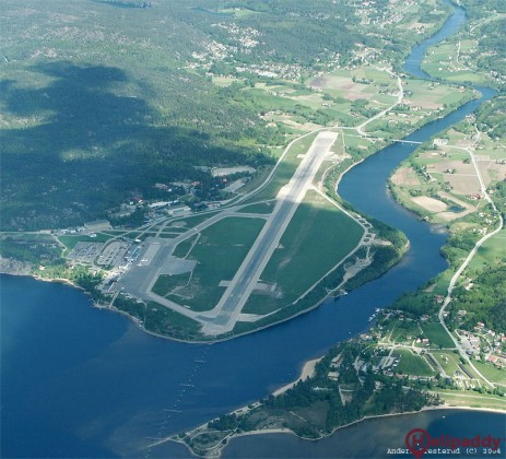 Kristiansand Airport by helicopter