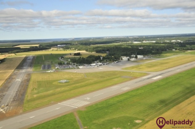Vaasa Airport by helicopter
