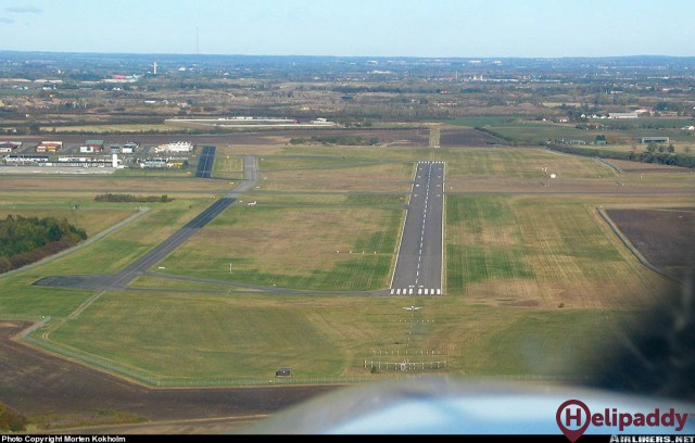Roskilde Airport by helicopter