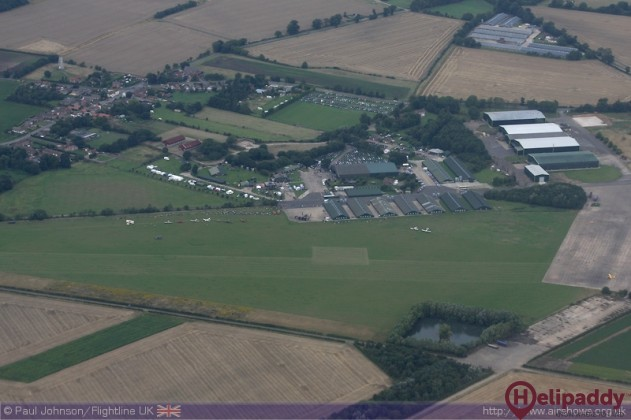 East Kirkby Airfield by helicopter
