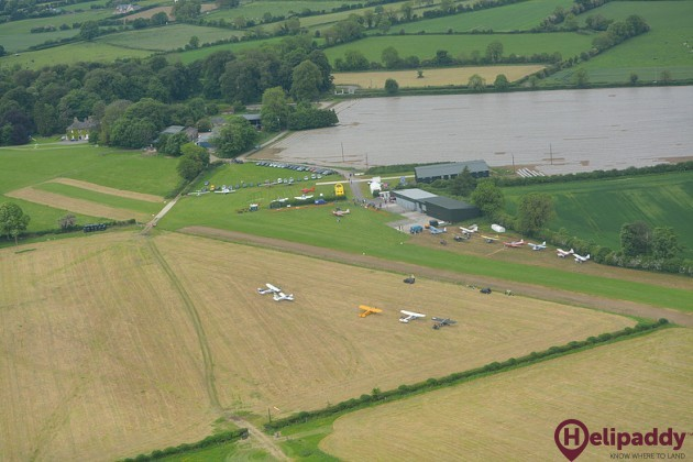 Ballyboy Airfield by helicopter
