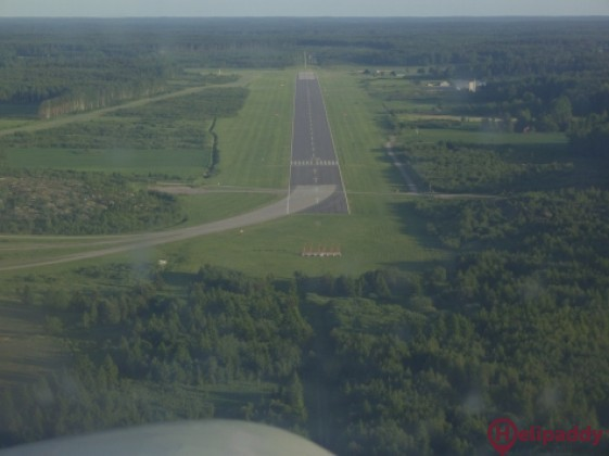 Eskilstuna Airfield by helicopter