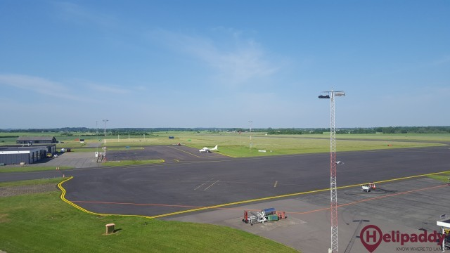 Hans Christian Andersen Airport by helicopter