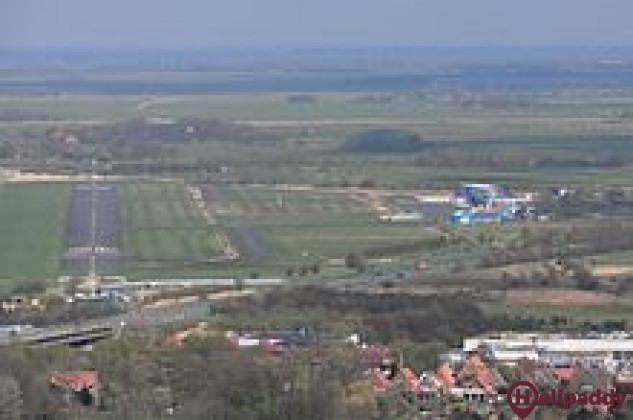 Emden Airport by helicopter