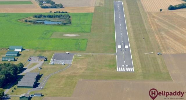 Lolland Falster Airport by helicopter