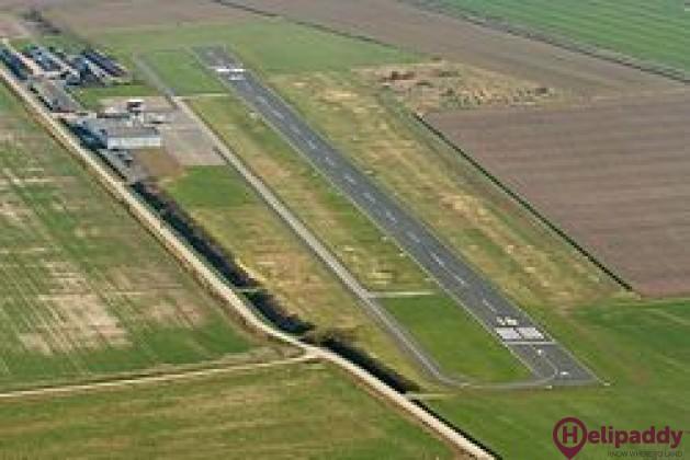 Langeoog Flugplatz by helicopter