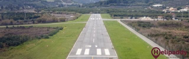Aerodromo Arxaquia by helicopter