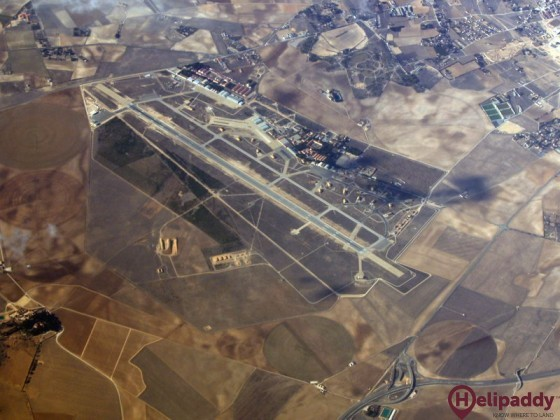 Albacete Airport by helicopter